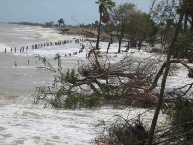 Inflow of tidal waters, Mousuni island, Sundarbans