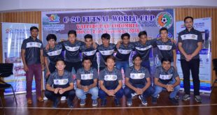 U-20 Indian Futsal Team with coach Mr. Bishal Chetri