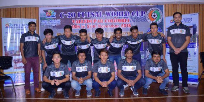 U-20 Indian Futsal Team with coach Mr. Bishal Chetri