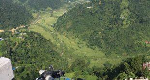 Landscape in Nepal.