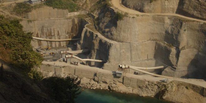 Lower Subansiri dam construction site