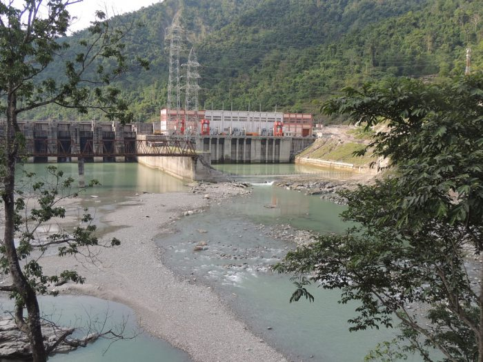 Where is the water? The Teesta is barely a trickle once it clears the hydropower dams [image by: Jayanta Basu]