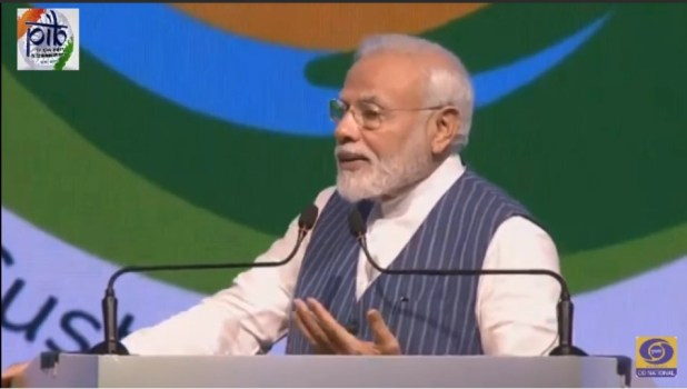 Prime Minister Narendra Modi Addressing The Gathering
