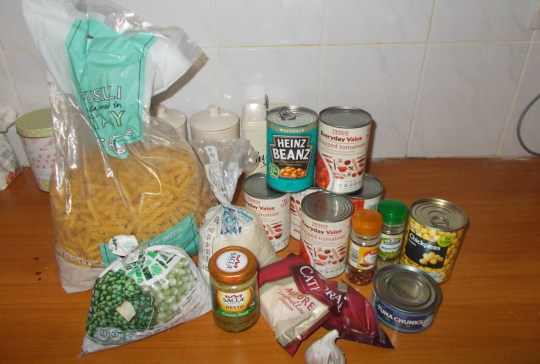 Food - 3  meals from your cupboard leftovers starting supplies - Credit Alice Child