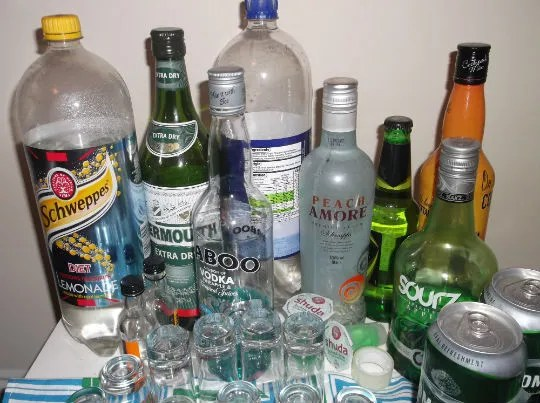 1.alcohol table