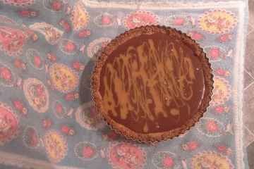 Caramel-swirled Double-chocolate Tart