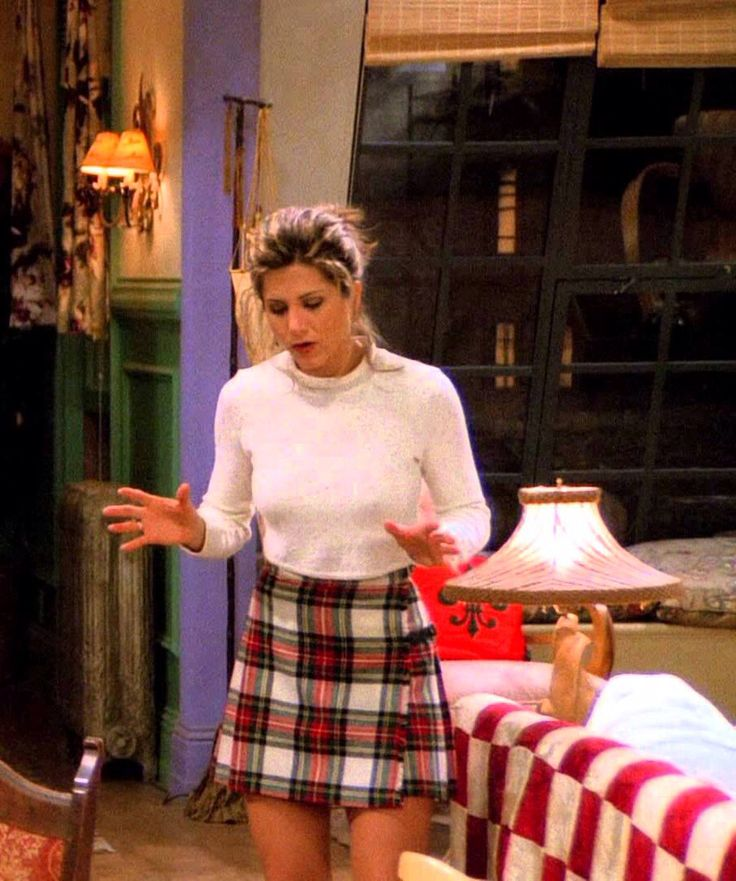 Rachel - checked skirt