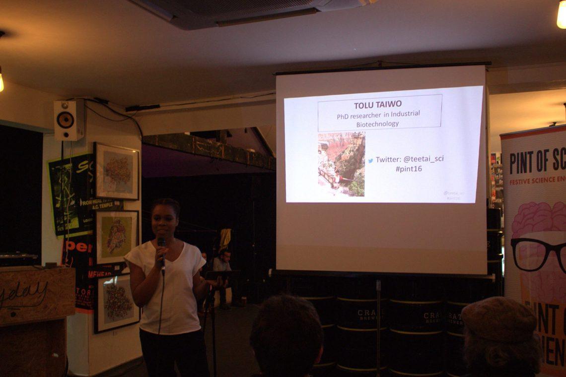 Tolu Taiwo talking about biotechnology
