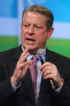 Al Gore warning of the dangers of climate change