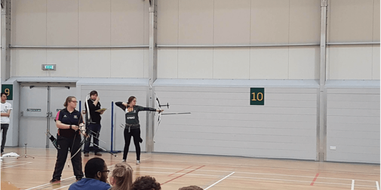 Action shot from the Archery.