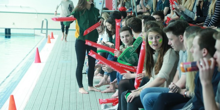 The capacity crowd for the Water Polo!