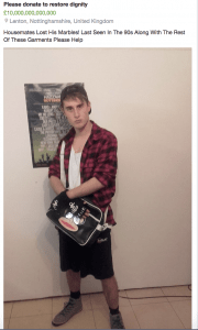 Despite Caspar's questionable fashion choices, he took to Nottingham's Buy/Sell Page with dignity