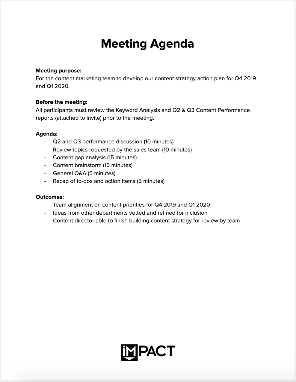 Here's how to write an effective meeting agenda (with meeting agenda templates). The Only Meeting Agenda Template You Ll Ever Need Meeting Tips