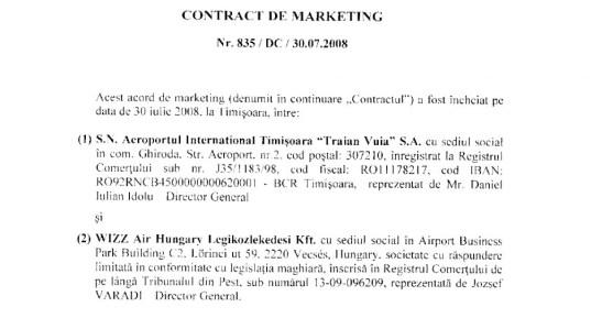 contract de marketing