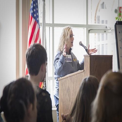 Mollie Stevens speaking