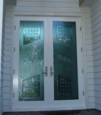 Decorative Entry Doors - Impact Ready Glass