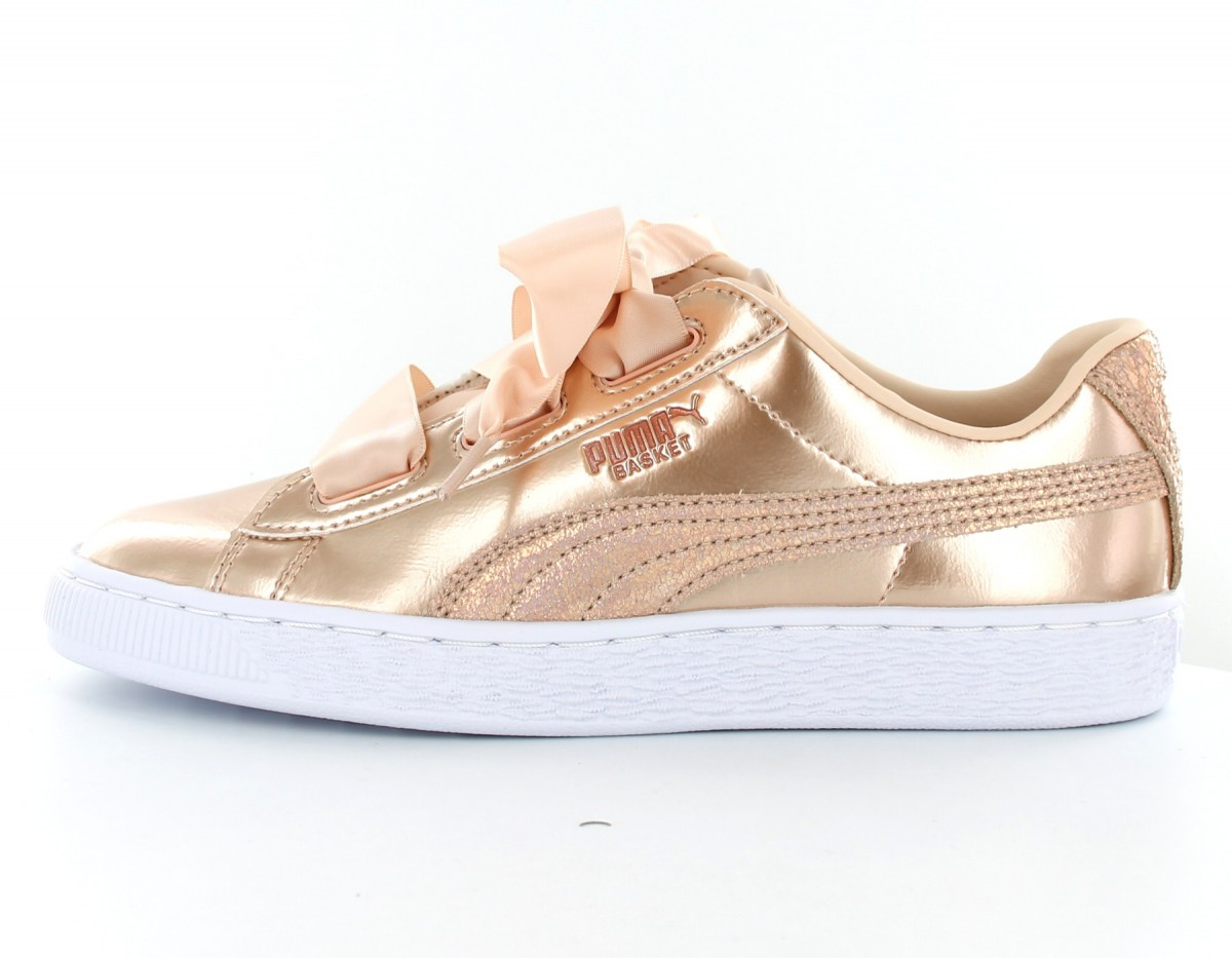 Puma Basket Heart Lunalux Jr Rose Gold 365993 02