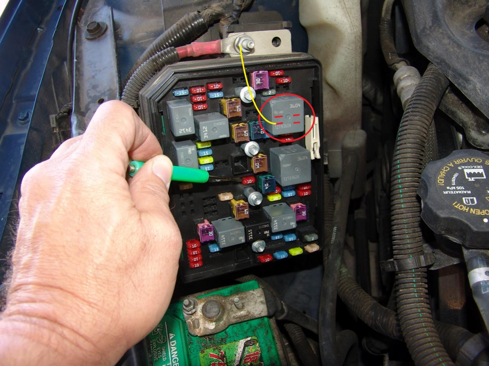 2006 Chevrolet Uplander Fuse Box Diagram