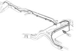 1959-1962 FUEL LINE, F TO R, 327/348/409, 3/8