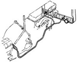 1966-67 TRANSMISSION COOLING LINES, SMALL BLOCK