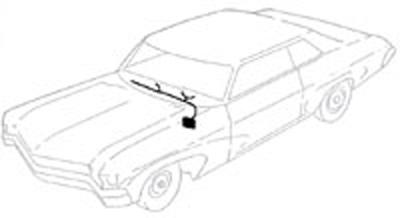 1965 CLOCK HARNESS, DASH MOUNTED DEALER ACCESSORY CLOCK
