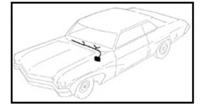 1966 DASH HARNESS, COLUMN SHIFT, AUTO