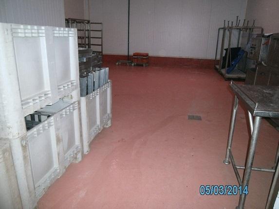 paviment continu multi capa industria càrnica amb desaigua