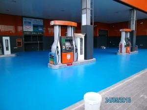 pavimento multicapa impapol resin gasolinera barcelona