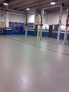paviment multicapa amb pintat tallers volvo