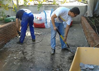 treballs eliminació paviment antic martell pneumàtic