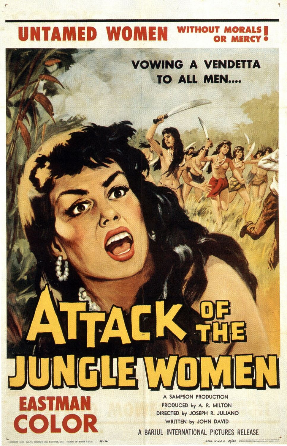 Extra Large Movie Poster Image for Attack of the Jungle Women