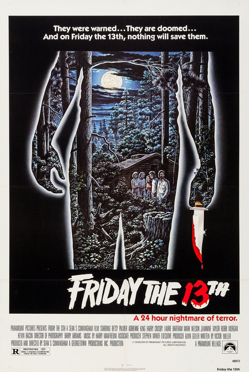 Image result for Friday the 13th movie poster