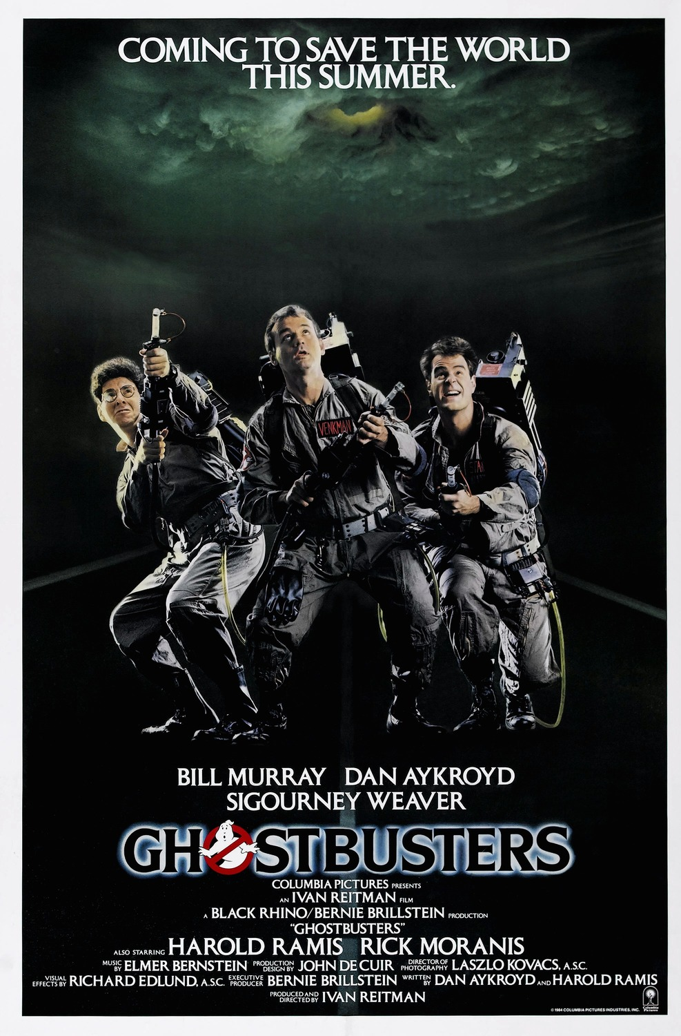 Extra Large Movie Poster Image for Ghostbusters (#3 of 7)
