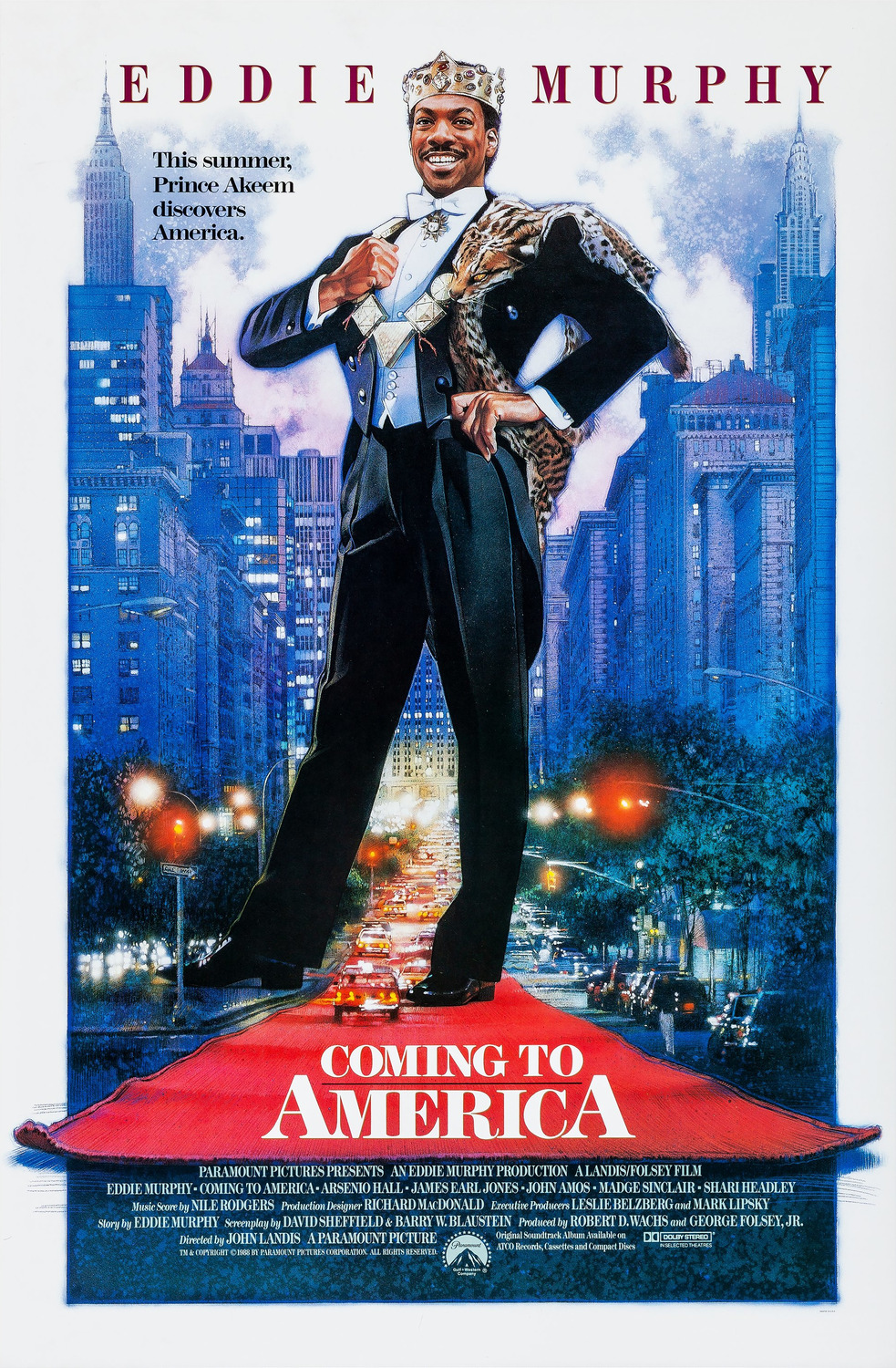 Extra Large Movie Poster Image for Coming to America