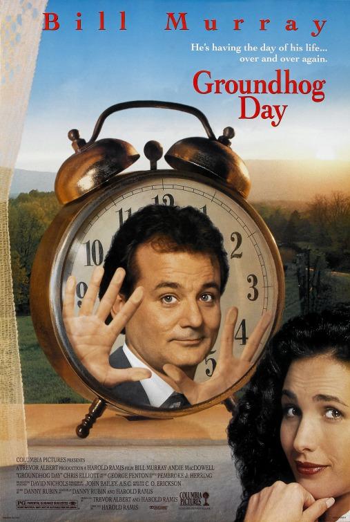 Resultado de imagen de groundhog day poster