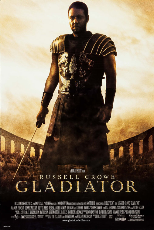 russel crowe gladiator movie poster