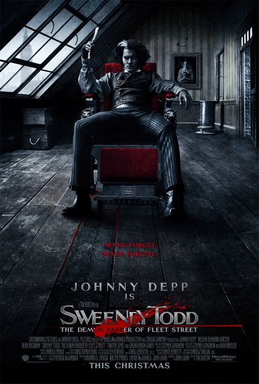 Image result for Sweeney Todd poster