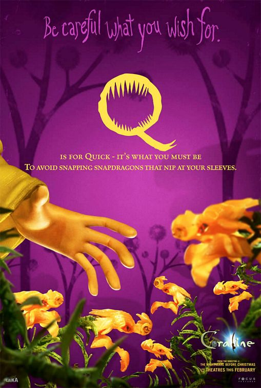 French Quotes Wallpaper Coraline Movie Poster 19 Of 35 Imp Awards