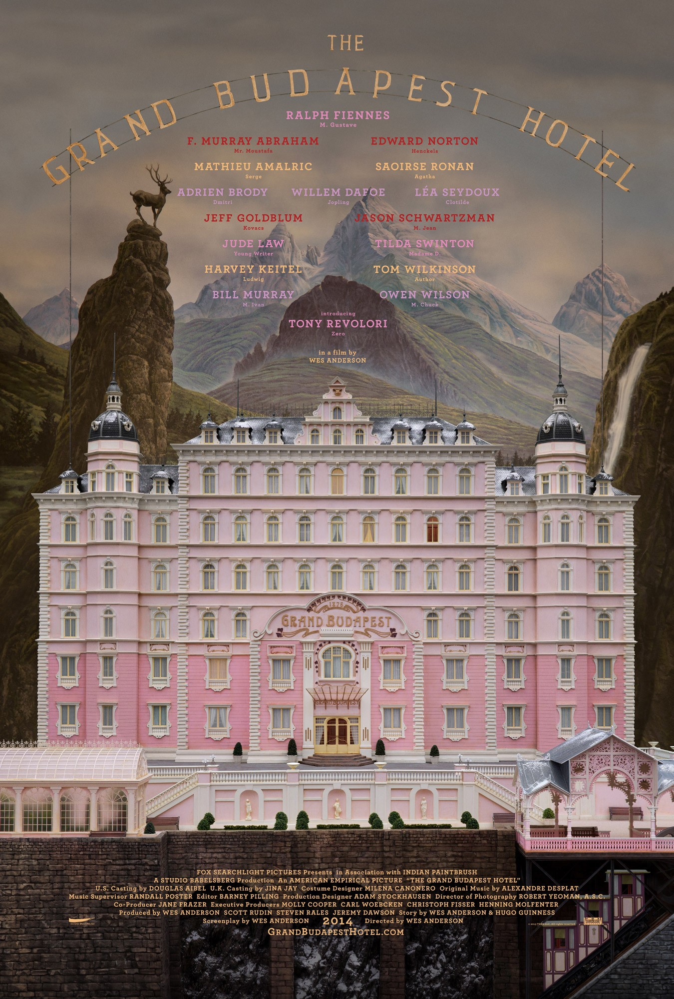 Mega Sized Movie Poster Image for The Grand Budapest Hotel