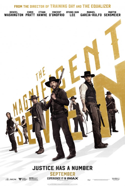 Image result for magnificent 7 2016 movie poster