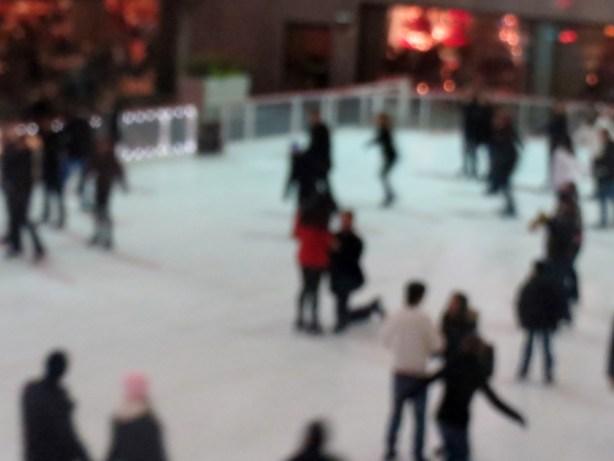 Guy on knee proposing