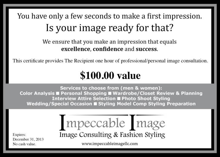 Image of Impeccable Image Gift Certificate