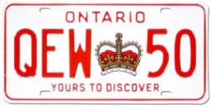Plaque de l'Ontario
