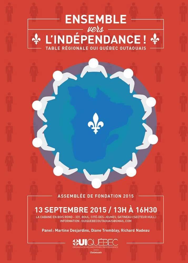 Affiche assemblée de fondation OUI-Québec Outaouais