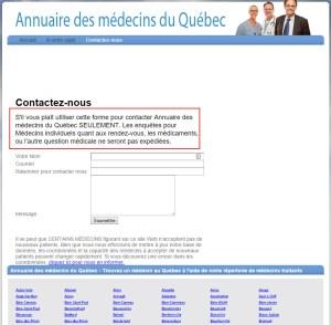 Annuaire des médecins du Québec