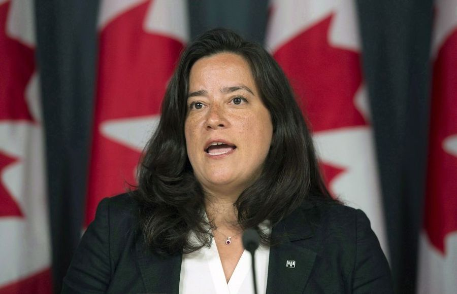 La ministre de la Justice, Jody Wilson-Raybould Photo: Adrian Wyld La Presse canadienne