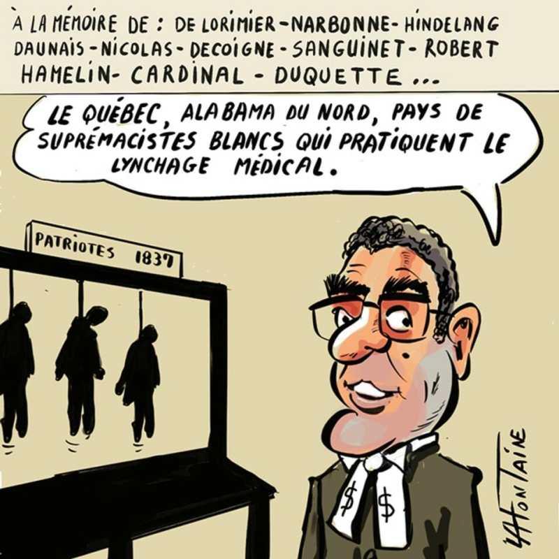 Caricature de Lafontaine extraite de L'Aut'journal