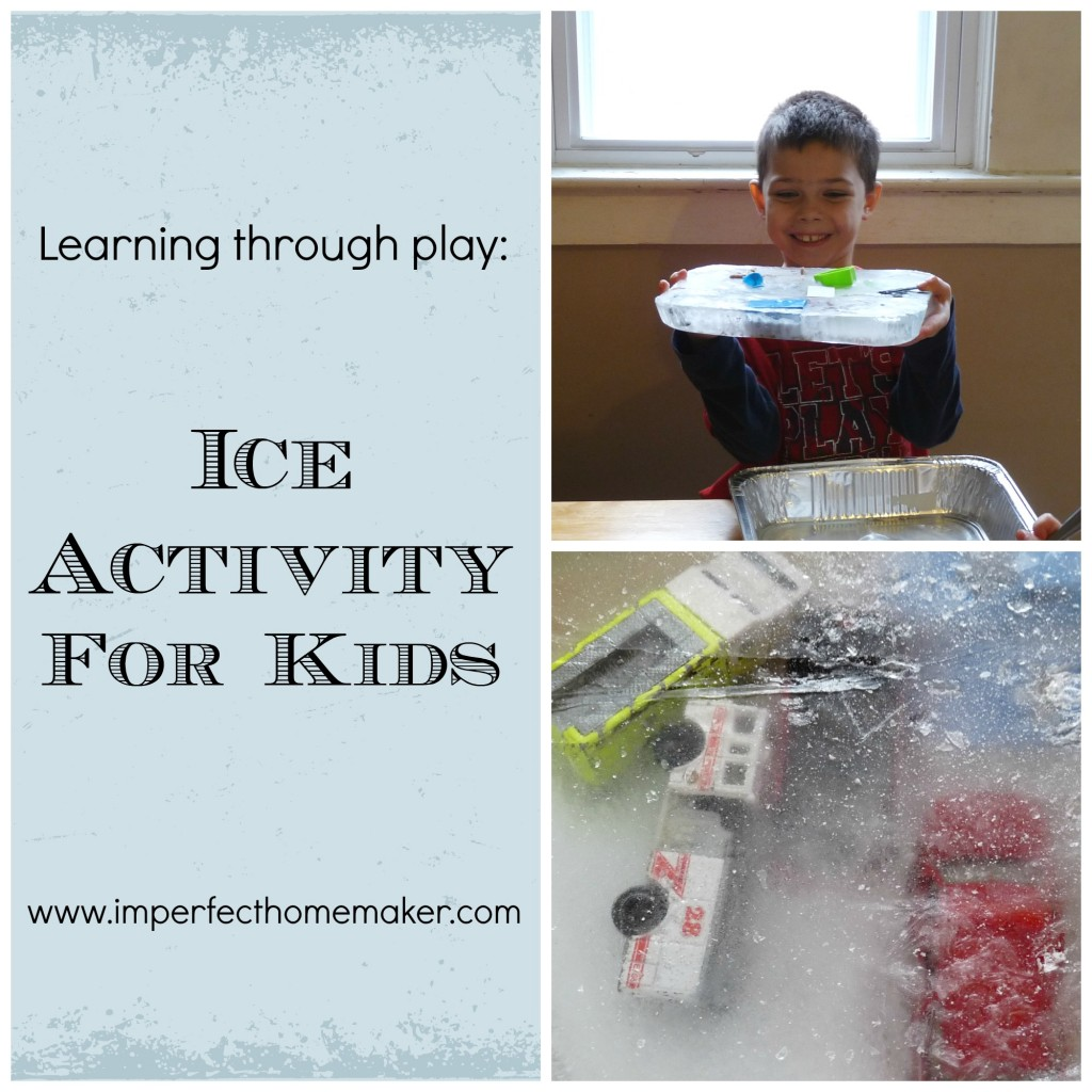Learning Through Play Ice Activity For Kids