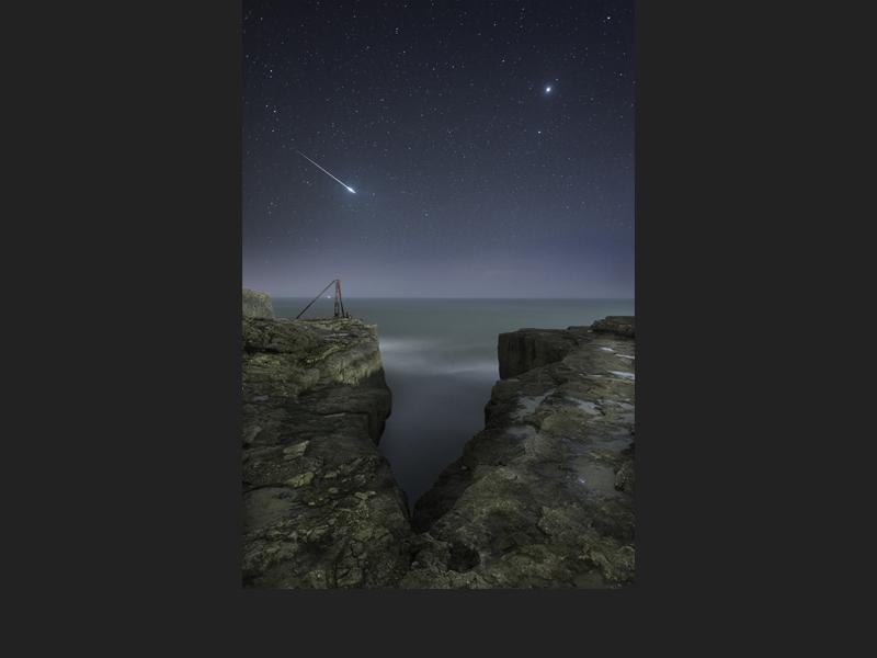 Shooting Star and Jupiter