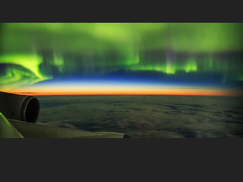 Aurora Shot from Plane